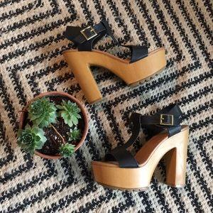 Mark & Maddux t strap wood heels
